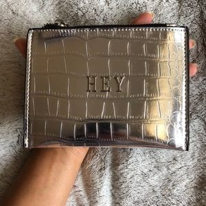 Zara Accessories - Zara Silver Crocodile Coin Purse